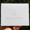 """Your Logo Embossed on 4"""" x 5"""" Folded Notes"""