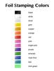 Your Logo Guest Towel Napkins - 200 Foil Stamped Custom Napkins - Foil Stamping Colors