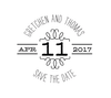 Accent Save The Date Personalized Self-Inking Wedding Stamp (TD1036)