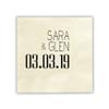 Date Wedding Napkins - Foil Pressed - Sample 2