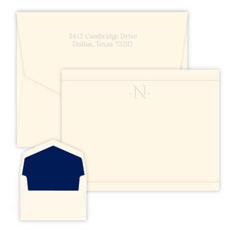Personalized Monogram Notecard Set  Set of Flat Classic Stationery  Stationary Note Cards  DIAMOND MONOGRAM