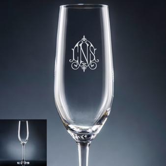5c15badbbd3 Aroma Monogram Champagne Flute - Personalized Drinkware - 10 Font Styles  (EG9401) ...