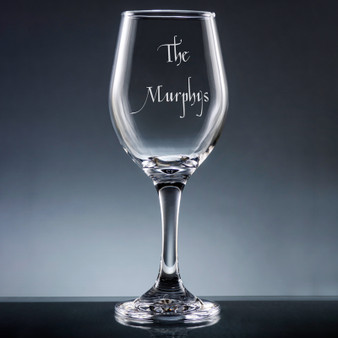 71dcdf1a912 Family Wine Glass with Stem - Personalized Drinkware - 10 Fonts (EG9416) ...