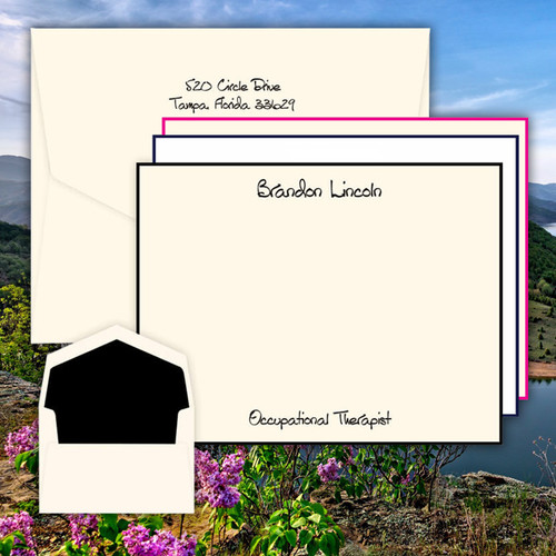 Premium Xpress Flat Cards - Raised Ink Stationery (EG7099)