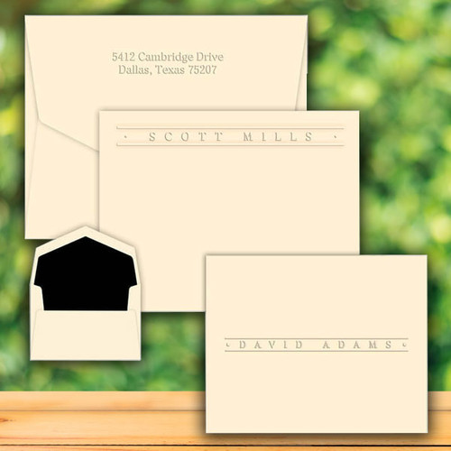 Four Seasons Premium Flat or Fold Notes - Embossed Stationery (EG9017)