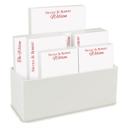 FREE HOLDER ~ Couples 7 Tablet Set - Personalized Custom Notepads - 700 Sheets   Fast Shipping! (EG1170 / EGX1170)