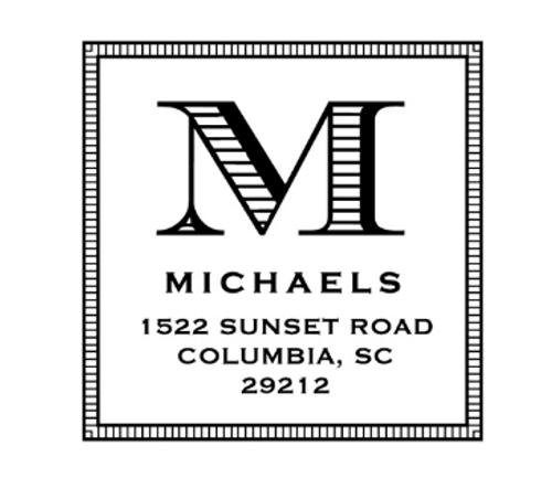 Michaels Personalized Self-Inking Address Stamp (TD7204)