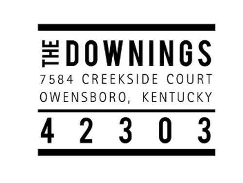 The Downings Personalized Self-Inking Address Stamp (TD7306)