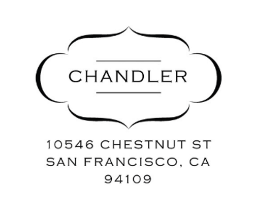 Chandler Personalized Self-Inking Address Stamp (TD7296)