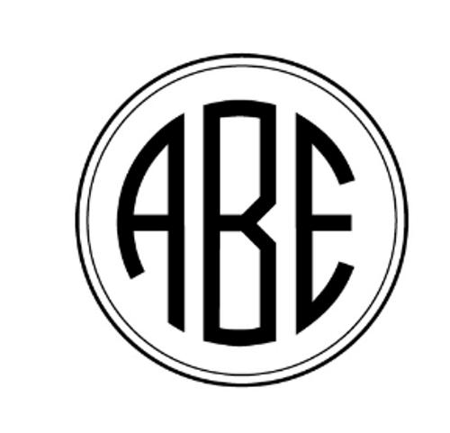 ABE Personalized Self-Inking Monogram Stamp (TD6716)
