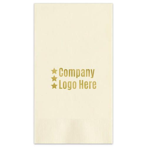 Your Logo Guest Towel Napkins - 200 Foil Stamped Custom Napkins (EG2674)