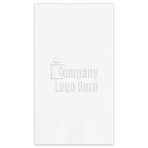 Your Logo Guest Towel Napkins - 200 Embossed Custom Napkins (EG2675)