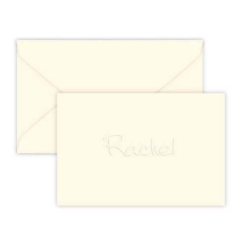 "Mini Thank You Gift Enclosure Fold Notes - Embossed Stationery - 2"" x 3.5"" - 25/Set (EG9026) - Font L01"