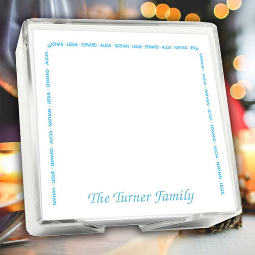 "Family Arched Memo Square Notepads with Holder - 275 Sheets - 5"" x 5"" (EG2005)"