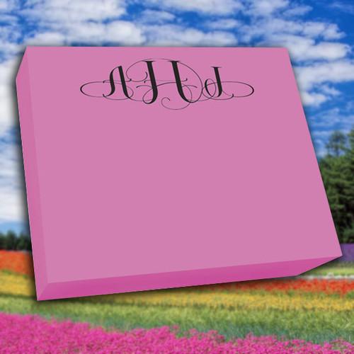"Del Mar Colorful Monogram Large Notepad - 250 Sheets (7.25"" x 8.5"") (EG7077)"