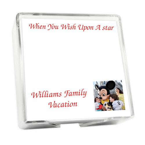 Custom Family Photo Memo Square with Holder - 275 Sheets (EG9025)