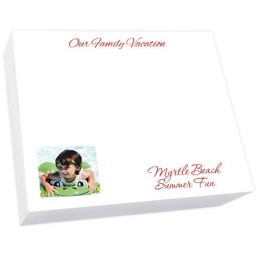 """Custom Image Large Desk Notepad - 250 Sheets (7.25"""" x 8.5"""") (EG7120)"""