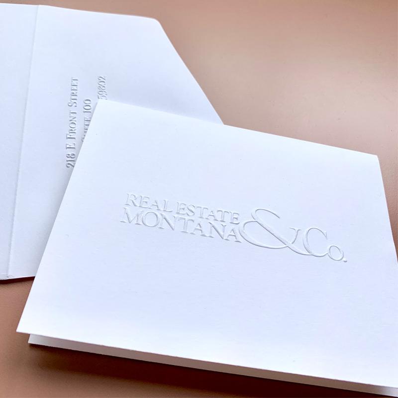 image regarding Embossed Stationery identify Your Emblem Embossed upon Folded Notes with Optional Revealed Border - Custom made Buy Embossed Stationery