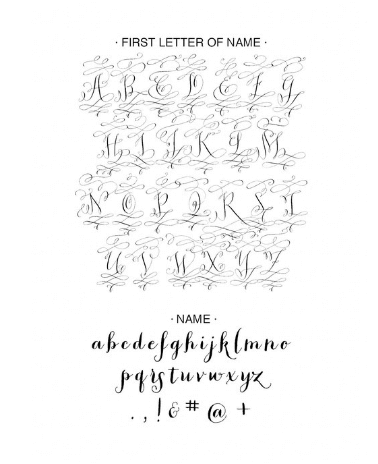 Last Name Calligraphy Personalized Self-Inking Wedding Stamp