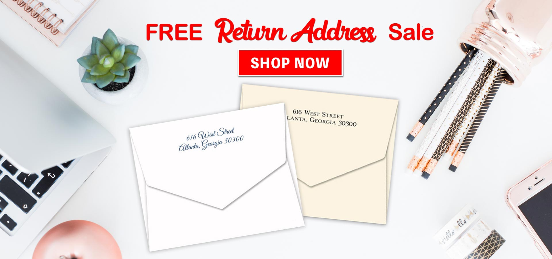 FREE Return Address Sale at StationeryXpress.com!