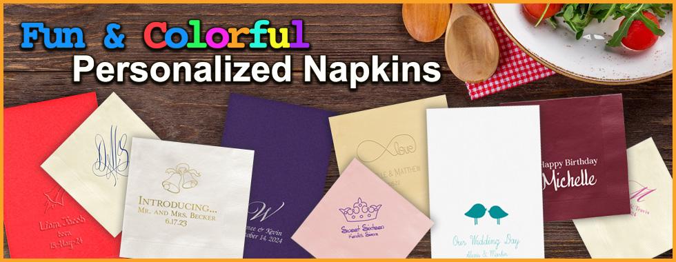 Fun & Colorful Personalized Napkins at StationeryXpress.com!