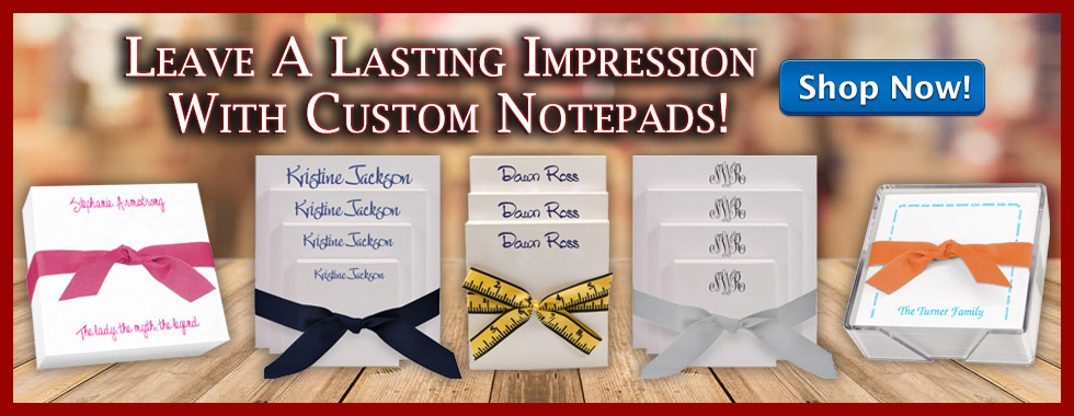Leave A Lasting Impression With Custom Notepads from StationeryXpress.com!