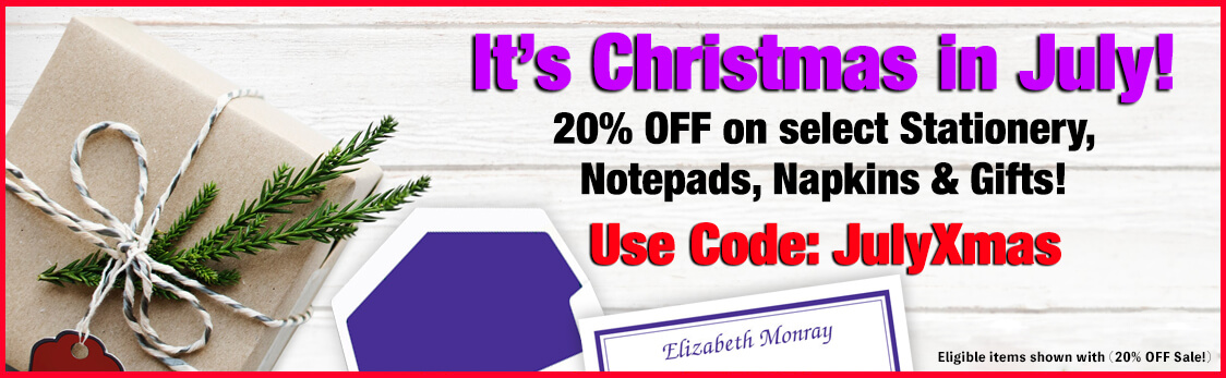 20% OFF Christmas in July Sale at StationeryXpress.com