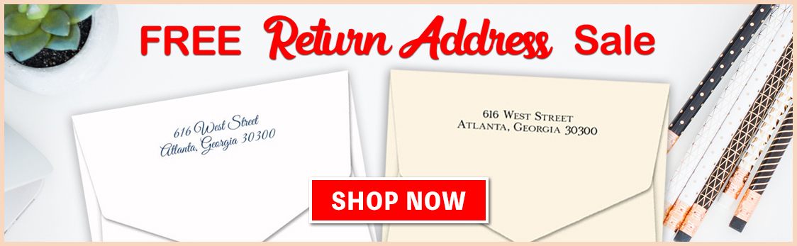 Free Return Address Sale at StationeryXpress.com