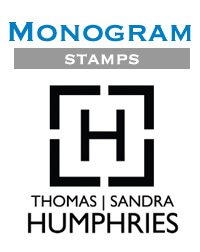 Monogram Stamps by Three Designing Women at StationeryXpress