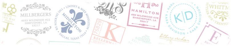 Stamp designs by Three Designing Women