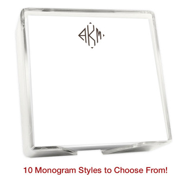 del mar monogram memo square notepads eg2004