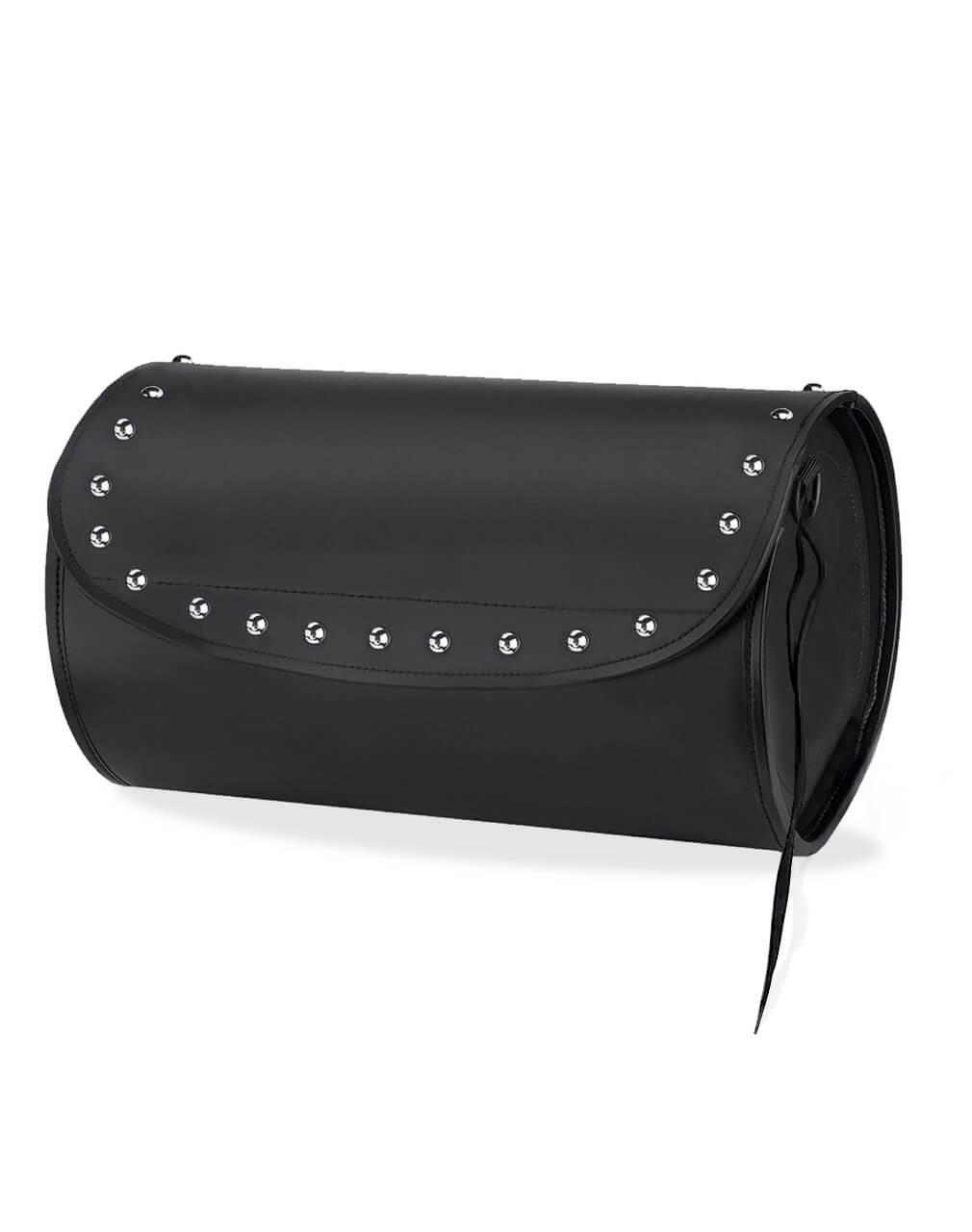 Kawasaki Viking Revival Series Studded Motorcycle Sissy Bar Bag Roll Bag