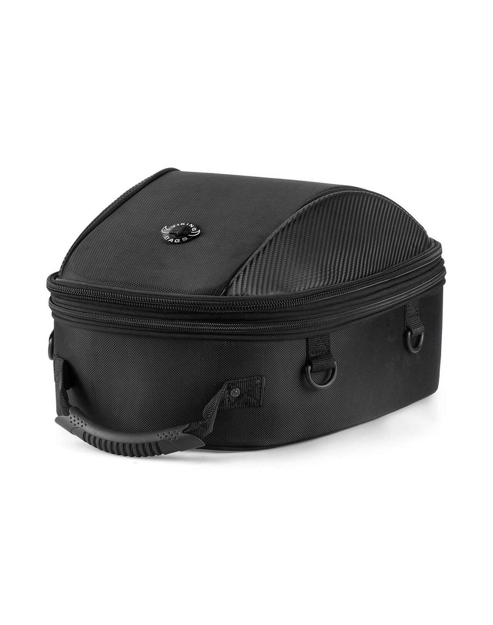 Viking Large Black Tail Bag For Harley Davidson Main View