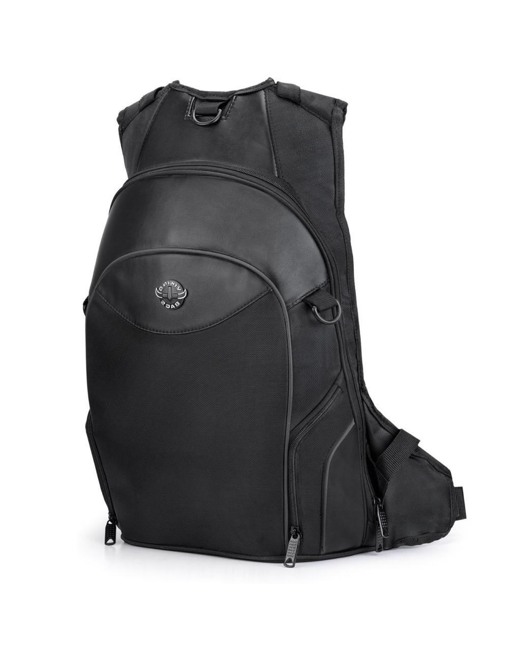 Viking Medium Black Backpack For Harley Davidson Main Bag View