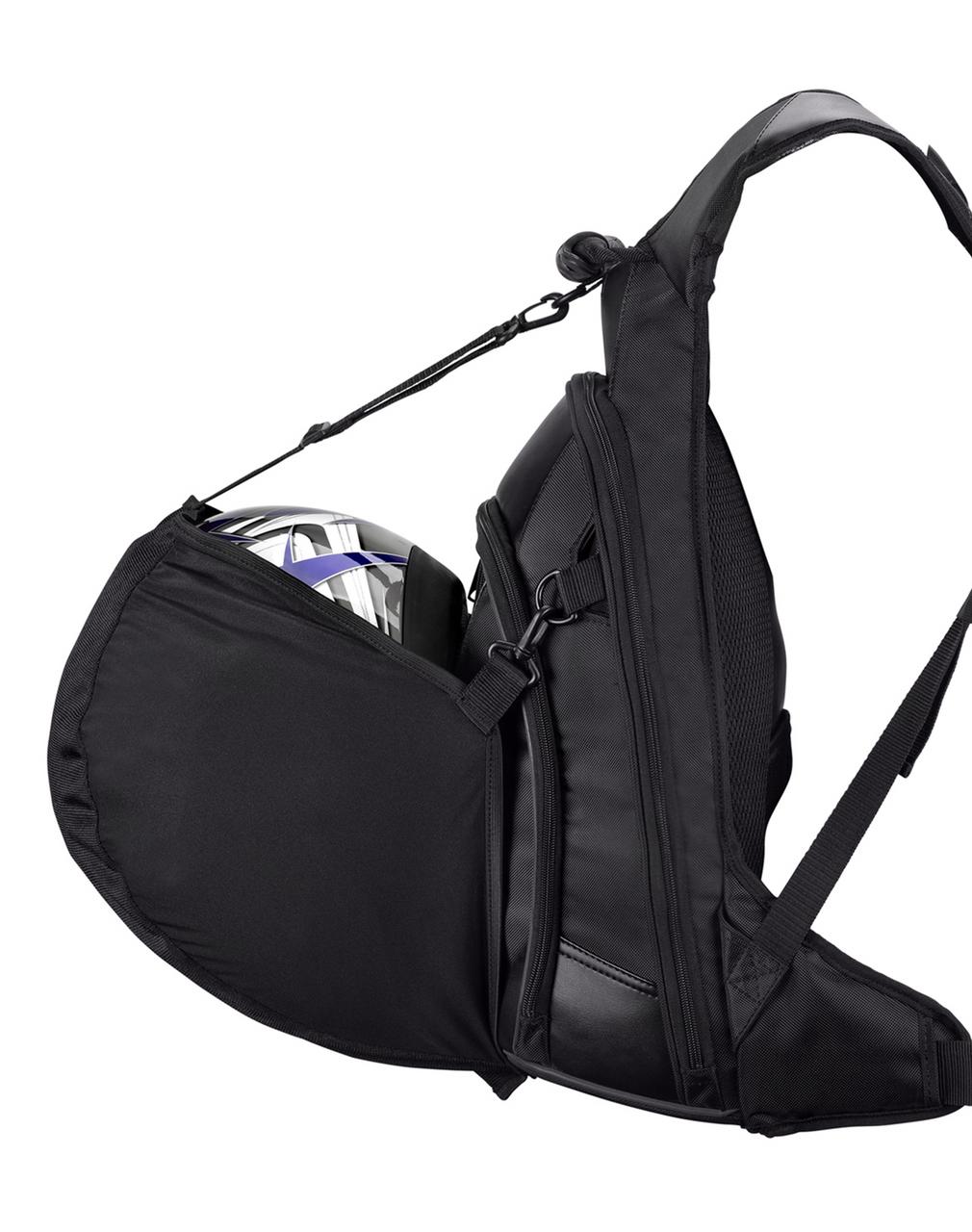 Viking Medium Black Backpack For Harley Davidson Helmet Hanger