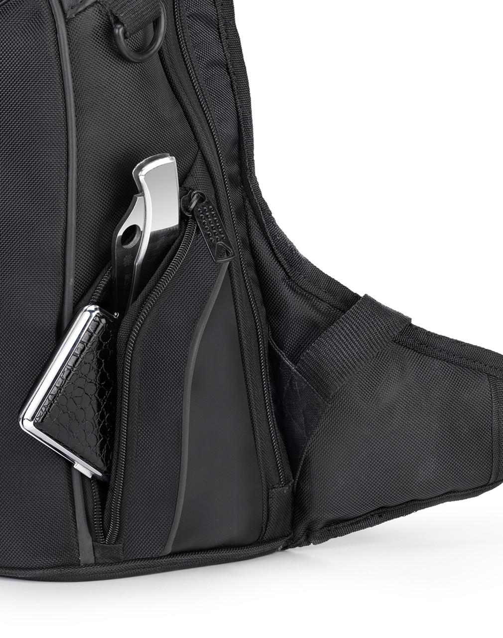 Viking Medium Black Backpack For Harley Davidson Front Pocket