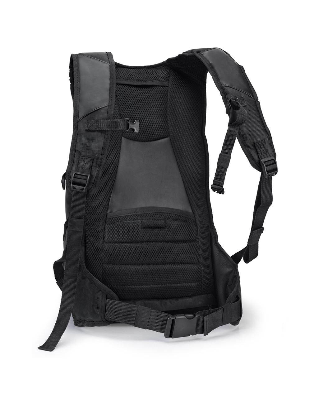 Viking Large Black Backpack For Harley Davidson Back View