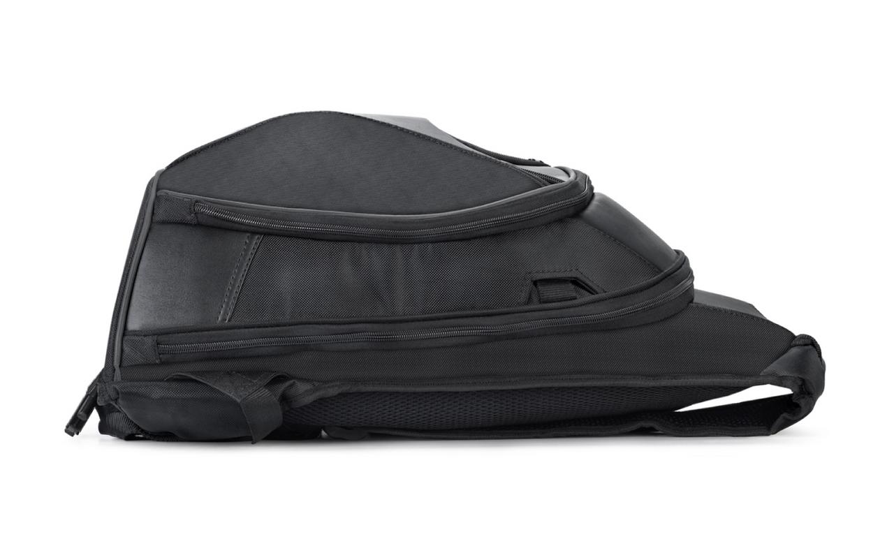 Viking Large Black Backpack For Harley Davidson Straight View
