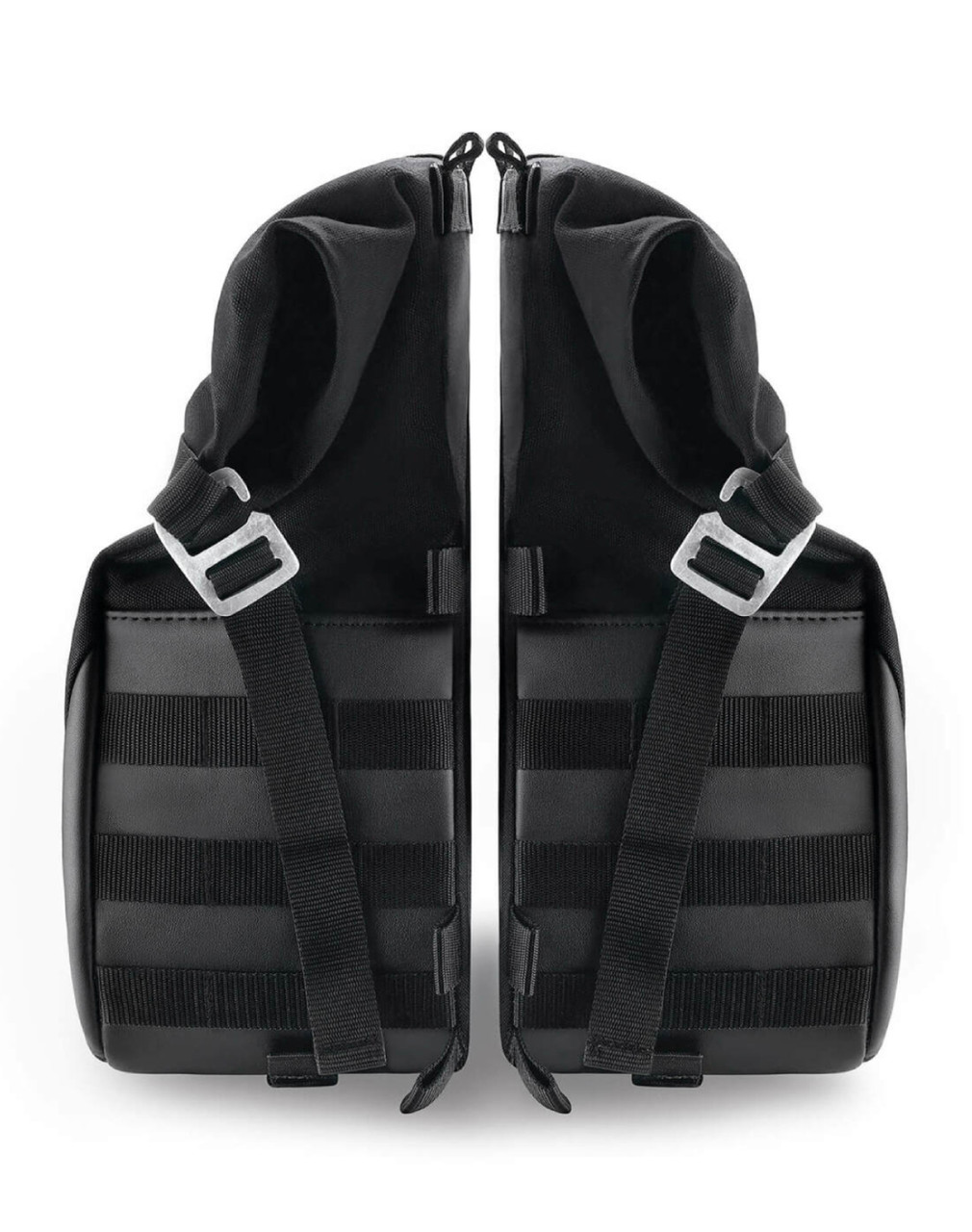 Viking Bonafide Large Black Motorcycle Triumph Bonneville T120 Saddlebags Both Bags View