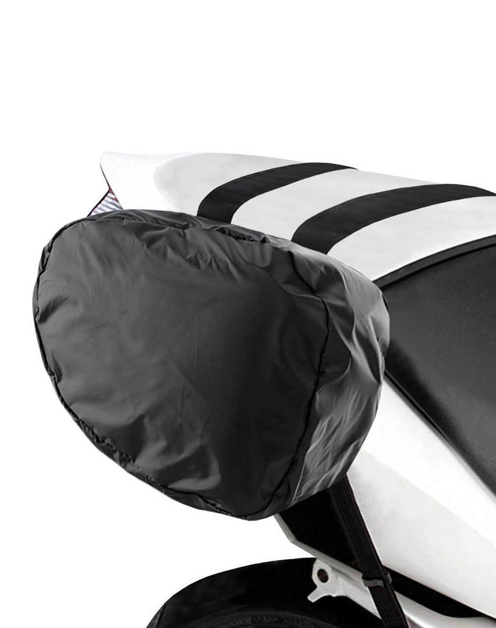 Viking Mini Expandable Black Motorcycle Triumph Bonneville T120 Saddlebags Rain Cover