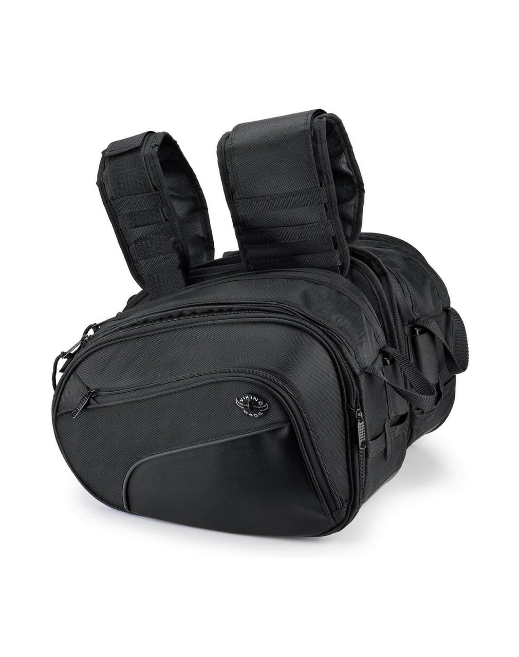 Viking AXE Medium Black Motorcycle Triumph Bonneville T120 Saddlebags Both Bags View
