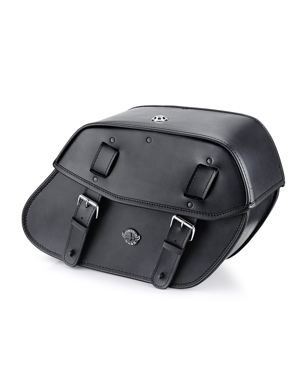 VikingBags Odin Large Double Strap Leather Motorcycle Saddlebags For Harley Softail Breakout 114 FXBRS Main View