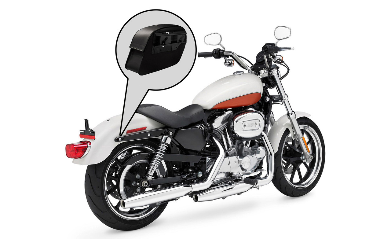 Viking Saddlebags Quick Disconnect System For Indian Scout Bike Placement View