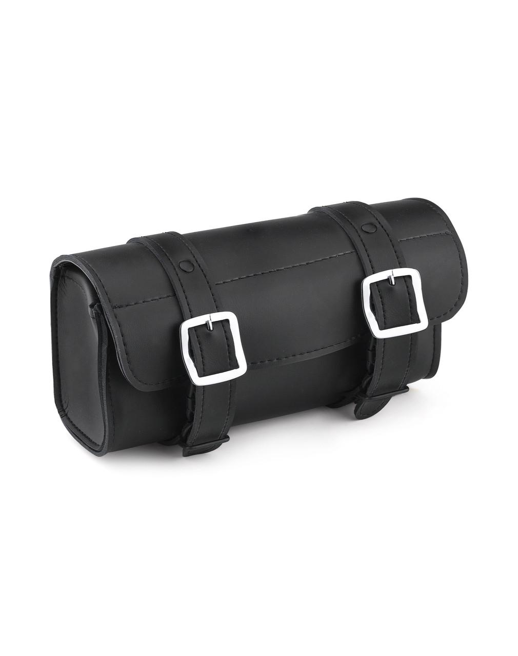 VikingBags Armor Plain Kawasaki Leather Motorcycle Handlebar Bag Main Bag View