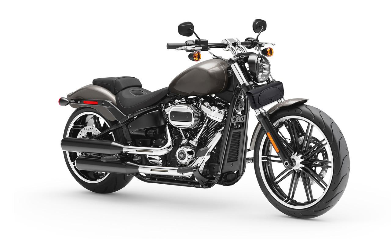 VikingBags Twist Warrior Small Kawasaki Leather Motorcycle Handlebar Bag Bag On Bike View
