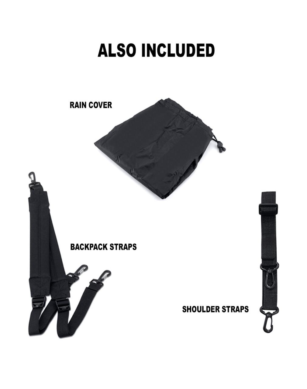 VikingBags AXE Medium Black Magnetic Motorcycle Tank Bag Straps Set