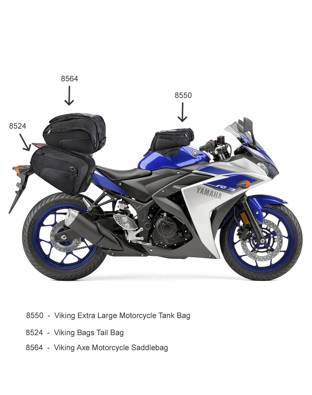 VikingBags AXE Medium Black Magnetic Motorcycle Tank Bag Related Bags View