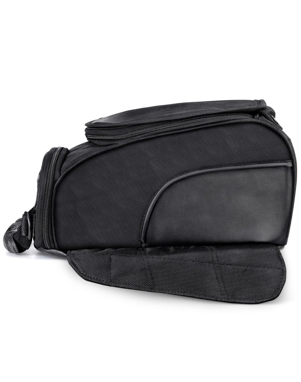 VikingBags AXE Medium Black Magnetic Motorcycle Tank Bag Side View