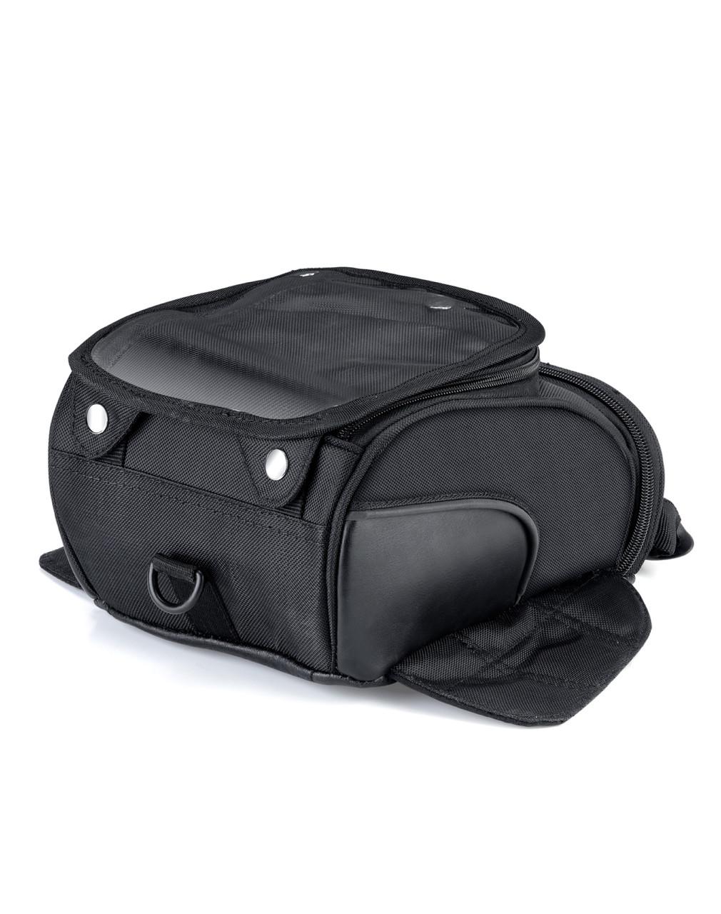 VikingBags AXE Medium Black Magnetic Motorcycle Tank Bag Back View