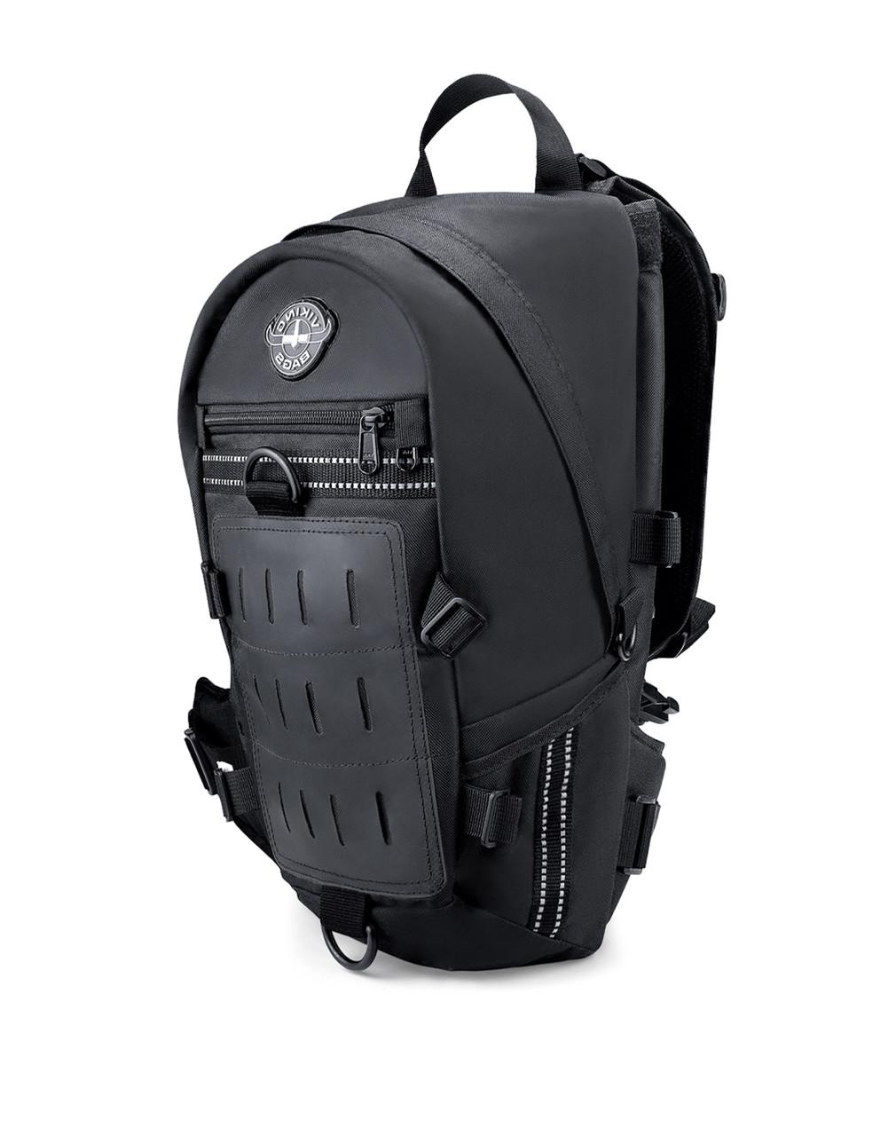 VikingBags Dirtman Medium Black Motorcycle Backpack For Harley Davidson Main Bag View